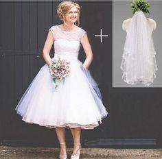 Vintage Tea Length Wedding Dresses Shoes