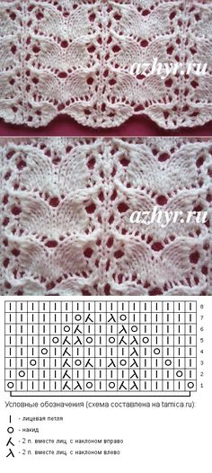 Key is in Russian but not needed to read the chart Lace Knitting Patterns mezgimas Lace Knitting Stitches, Lace Knitting Patterns, Knitting Charts, Lace Patterns, Free Knitting, Stitch Patterns, Free Crochet, Owl Quilt Pattern, Gilet Crochet
