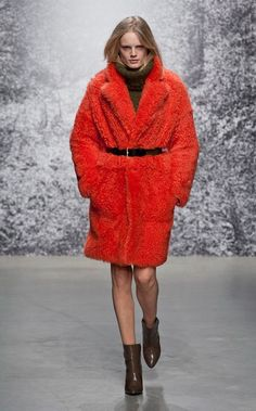 @roressclothes clothing ideas #women fashion red coat Paul & Joe Fall 2014