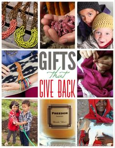 This is the fourth year I've compiled a list of gifts that give back. There are some old favorites on this list as well as some new finds.