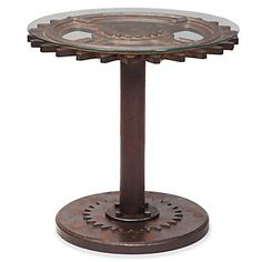 Gear End Table from Z gallerie. It would look awesome in a man room.