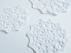 Set of white doilies cotton crochet home decor by MKedraHandmade, $45.00