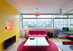 Living space, Great Arthur House, Golden Lane Estate, London EC1 (Chamberlin, Powell & Bon)