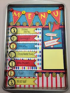 Mistyical Creations: Midway Madness Menu Board - pretty and useful!