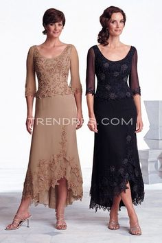 Simple Design Mother of Bride Dress in Full Length, Modern Mother of Bride Dresses - Trendress.com