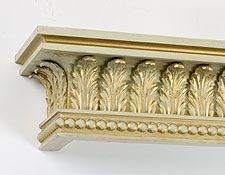 Acanthus leaf cornice/can also tuck rope lighting above top of cornice