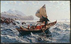 A Norwegian Fishing Boat Near Bergen - Hans Dahl