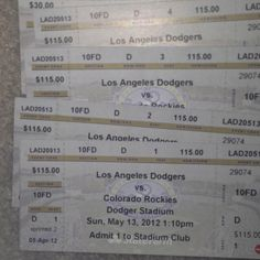 Mother's Day. Rockies vs Dodgers for Sale.