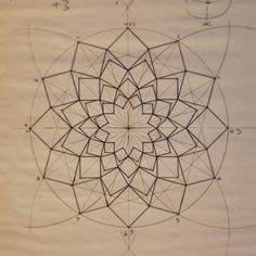 A pattern taught last week at the Crow Museum during a sacred geometry session. The conference has now come to a close and we are back in the UK. We had a great time in the U.S. and met some remarkable people! Now we are planning for our Fez course starting Monday! #sacredgeometry #lecture #geometry #crowmuseum #dallas
