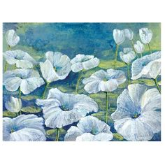 Glory In The Flowers Canvas Art Print ($70) ❤ liked on Polyvore featuring home, home decor, wall art, stretched canvas, blossom wall art, floral home decor and floral canvas wall art