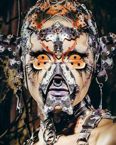 Character Design Inspiration, Makeup Inspiration, Alternative Makeup, Fx Makeup, Arte Horror, Club Kids, Maquillage Halloween, Masks Art, Jolie Photo