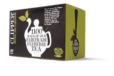 Yate Supplies - Product List - Clipper Tea - Clipper Fairtrade Everyday Tea Bag 1100 Bags Clipper Tea, Fair Trade, Catering, Product List, Herbs, Chocolate, Coffee, Drinks, Packaging