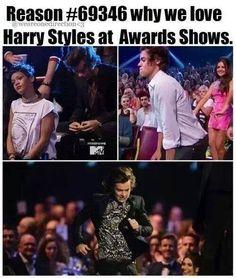 Yup! Eating oranges, twerking, & running from the bathroom...Harry Styles ladies and gents! XD
