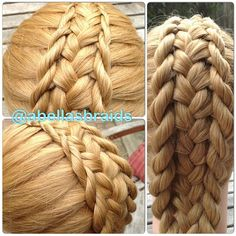 Pull out feather pieces on both sides of a French braid. Make French twists with the feather pieces Ponytail Hairstyles, Pretty Hairstyles, Girl Hairstyles, Hairstyles Videos, Updos, Cool Braids, Unique Braids, Natural Hair Styles, Long Hair Styles