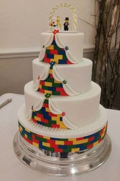 Lego Wedding Cake, probably more the size that we're going to need with 100 People.
