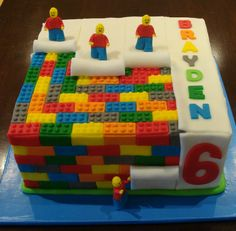Lego themed cake - Catherine's Cakes Perth