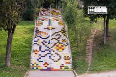 Great urban art in Targu Mures, Transylvania, a region of Romania. Stairway Art, Stairway To Heaven, Empire Ottoman, Street Art, Visit Romania, Step By Step Painting, Outdoor Art, Beautiful Places To Visit, Banksy