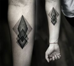 Geometric tattoo. Reminds me of the one I'm working on for myself.
