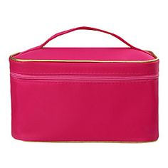 Rose Portable Cosmetic Makeup Pouch Hand Carrying Case Bag With Cosmetic Mirror