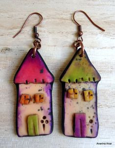 Polymer clay earrings by Anarina Anar.  Just gorgeous!!