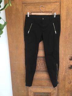 ac6dfc32e6f J Brand Cotton Pant sz 30 Womens Black Zipper Ankle Pockets stretch Skinny