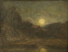 """""""Moon Rise,"""" Albert Pinkham Ryder, oil on panel, 7 1/2 x 9 5/8"""", private collection."""