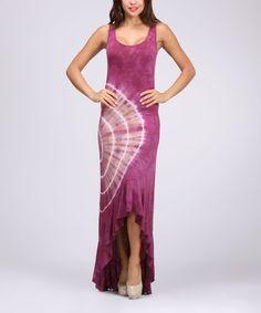 Another great find on #zulily! Magenta Tie-Dye Sleeveless Hi-Low Maxi Dress by Urban X #zulilyfinds