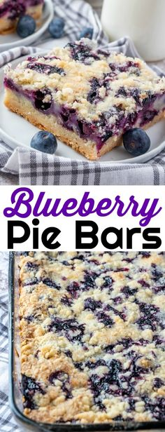 Vegetarian Makes 12 These berry pie bars are a tasty dessert that's great for bake sales spring and summer picnics parties and of course after dinner! Also delicious with cherries raspberries blackberries or Dessert Dips, Diy Dessert, Smores Dessert, Dessert Aux Fruits, Dessert Food, Mini Desserts, Desserts Keto, Easy No Bake Desserts, Delicious Desserts