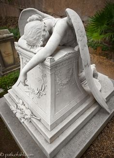 ~The Weeping Angel~ The tomb of Emelen Story, in the Protestant Cemetery in Rome