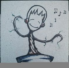 Baby Groot inspired dancing tree w/ headphones by ScribbleSketches, $15.00