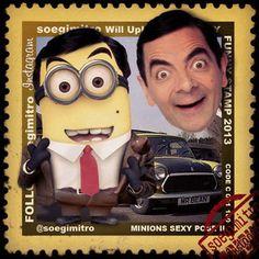 MINION MINIONS FUNNY STAMPS (soegimitro) on Instagram   iPhoneogram. Mr Bean