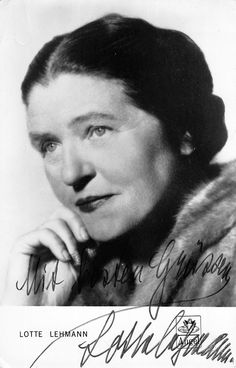German soprano (1888-1976), signed promo photo, shown as herself. Size is 4.25 x 6.75 inches. Minor crease in the upper left corner, not affecting the image.