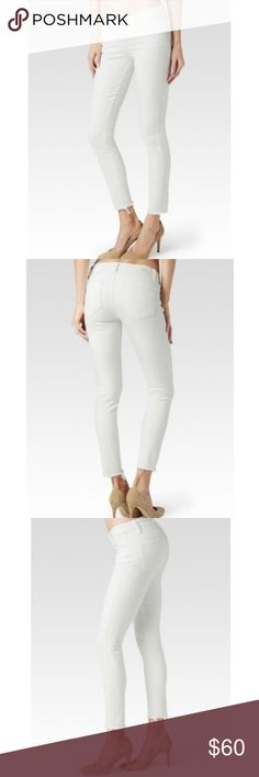 Paige VERDUGO Ankle Jeans NWT $199 DISTRESSED Thank you for shopping my store!   You are looking at the following item:  Paige VERDUGO Ankle Jeans   Sizes: 28, 30, and 31 available   NWT $199   ANKLE DISTRESSED OPTIC WHITE WITH RAW HEM  This item(s) comes from a smoke and pet free home.  All items are preowned unless otherwise noted NWT, NWOT, or NWOB.  I inspect all items and disclose details if there are any flaws or anything in question. Paige Jeans