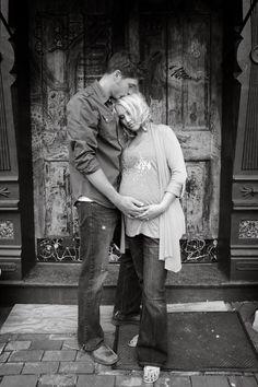 Maternity Couple Photo  by Alecia Hoyt