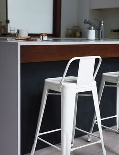 Tolix® Marais Counter Stool with Low Back