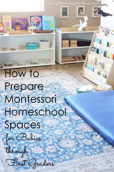 """The post """"Tips for preparing Montessori homeschool spaces that can be adapted for babies through first graders; includes ideas for keeping babies and toddlers safe from choking & Living Montessori Now appeared first on Pink Unicorn Homeschool Montessori Playroom, Montessori Homeschool, Homeschool Kindergarten, Montessori Toddler, Montessori Materials, Montessori Activities, Online Homeschooling, Baby Activities, Homeschooling Statistics"""