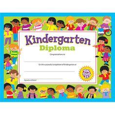 T-17005 Kindergarten Diploma PK-K Certificates & Diplomas- Trend