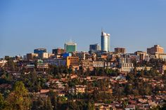 Panoramic view at the city bussiness district of Kigali, Rwanda, 2016 National Botanical Gardens, Kairo, Winter Palace, Lake Beach, New York, Plan Your Trip, Vacation Spots, Trivia, Trip Planning