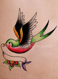 Swallow Tattoo Design Picture 4