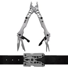 SOG Blades  Multi Tool in belt buckle  Whether it's used as a belt buckle or clipped on a pack, the Sync multi-tool is there to save the day anytime and anywhere.