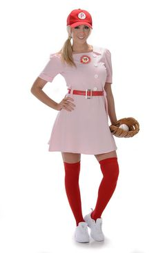 Rockford Peaches Baseball Uniform Adult Costume