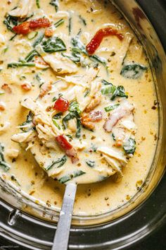 Slow Cooker Cream Cheese Crack Chicken Recipe - #slow-cooker #chicken #soup #recipe #eatwell101 - This slow cooker crack chicken soup is incredible and full of cheesy flavor! - #recipe by #eatwell101® Keto Crockpot Recipes, Healthy Low Carb Recipes, Chicken Soup Recipes, Slow Cooker Recipes, Cooking Recipes, Atkins Recipes, Ketogenic Recipes, Fresh Eats, Macro Meals