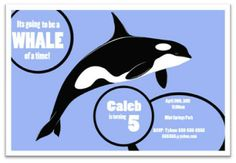 InspireMe Crafts: Killer Whale Birthday Party: The Invitation