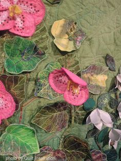 Shangri-la by Barb Forrister, 2013 Houston IQF, closeup photo by Quilt Inspiration