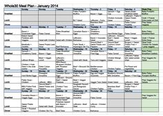 Whole30 Meal Plan - A months worth of Paleo & Whole30 Breakfasts, Lunches and Dinners! #paleo #whole30