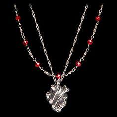 ThinkGeek :: Anatomical Heart Necklace