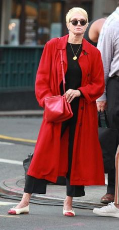 ELLEN BARKIN, 60 With a Céline trio shrugged nonchalantly over one shoulder, lady in red Ellen Barkin won over our eager fashion hearts immediately with this street savvy look