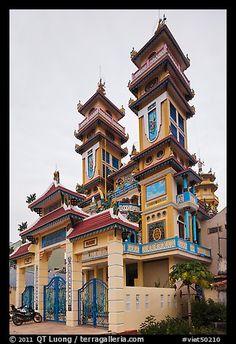 Cao Dai temple, Duong Dong. Phu Quoc Island, Vietnam