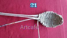 How to make Newspaper weaving art for kitchen - Art & Craft Ideas - Newspaper crafts diy - Diy Crafts Hacks, Easy Crafts, Diy And Crafts, Arts And Crafts, Kids Crafts, Newspaper Crafts, Paper Basket, Kitchen Art, Kitchen Design