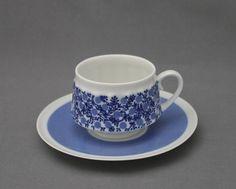 Arabia, Doria, Raija Uosikkinen Aladdin, Bone China, Shades Of Blue, Finland, Cupboard, Tea Time, Tea Cups, Blues, Interiors